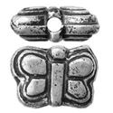 Picture of Silver Plated Oxidized Butterfly Beads 6x8mm 1mm Hole<br />10 ~        Beads