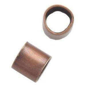 Picture of Antique Copper Plated Crimp Tubes 2x2mm<br /> Approximately 100 ~        Crimp ~        Tubes