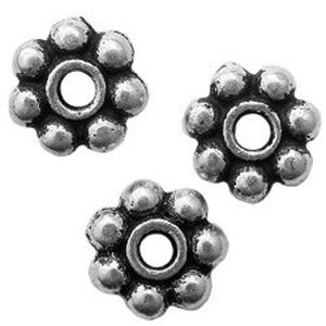 Picture of 4mm Silver Plated Daisy Spacer 10pcs