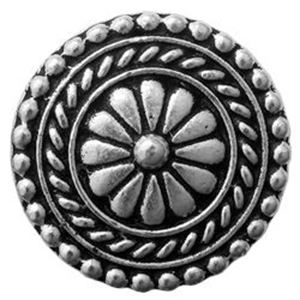 Picture of TierraCast Antiqued Silver Plated Bali Button with Loop, 18mm