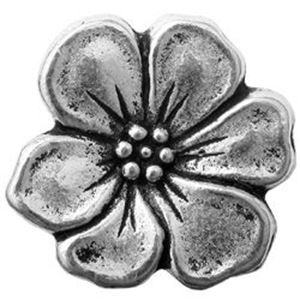 Picture of TierraCast Antiqued Silver Plated Pewter Apple Blossom Button with ~        Loop, 14mm
