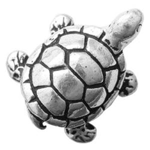 Picture of TierraCast Antiqued Silver Plated Turtle Bead, 15x12mm