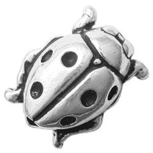 Picture of TierraCast Antiqued Silver Plated Ladybug Bead, 10x8mm