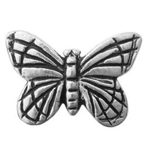Picture of TierraCast Antiqued Silver Plated Monarch Bead, 16x11mm