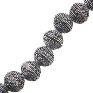 Picture of Silver Plated Copper Bali Style Bead 10x12mm, I.D. 2.8mm, Approx. 8 ~        Beads