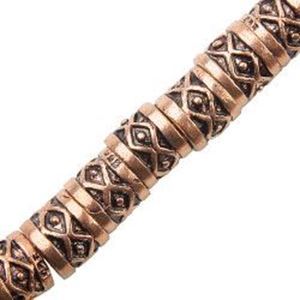 Picture of Copper Diamond Tube Bead 7x8mm, I.D. 5.6mm, Approx. 11 Beads