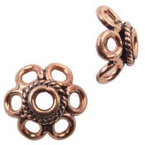 Picture of Copper Bead Caps 10mm<br />20 Bead Caps