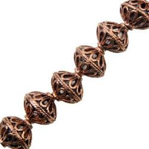 Picture of Copper Rondelle Bead 10mm, I.D. 1.6mm, Approx. 8 Beads