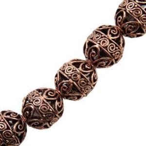 Picture of Copper Scroll Melon Bead 11x13mm 2.2mm Hole <br />6 Beads