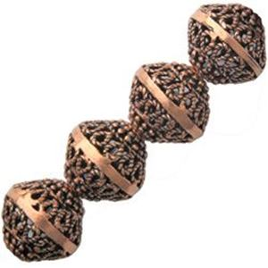 Picture of Copper Bali Style Bead 11x12mm, I.D. 1.5mm, Approx. 7 Beads