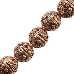 Picture of Copper Flower Bead 12mm 2.4mm Hole, Approx. 6 Beads