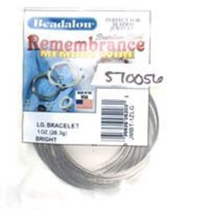 Picture of Beadalon Remembrance Large Bracelet Memory Wire .025 Inch 1 ~        oz
