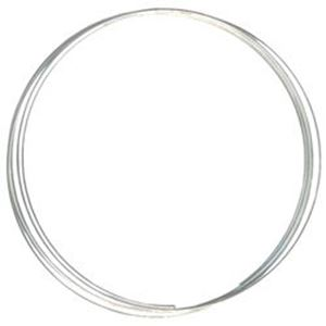 """Picture of Beadalon Silver Plated Memory Wire Small Oval Bracelet 0.025"""" ~        35oz"""