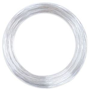 Picture of Beadalon German Style Round Silver Plated Wire 26 Gauge 65.6 ~        Feet