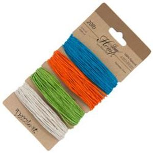 Picture of Natural Bright Colours 20lb, 100% Natural Hemp 1mm<br ~        />4x29.9ft