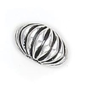 Picture of Silver Plated Copper Corrugated Melon Beads 6x11mm 2.3mm Hole, ~        Approx. 10 Beads