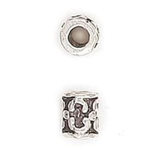 Picture of Silver Plated Copper Tube Spacer Beads 5x7mm 2.9mm Hole, Approx. 10 ~        Beads