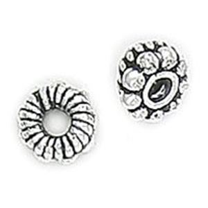 Picture of Silver Plated Copper Spacer Bali Style Beads 6mm 1.4mm Hole<br />10 ~        Beads