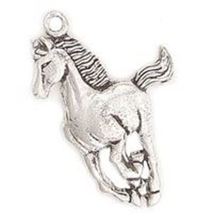 Picture of Silver Plated Copper Horse Pendant 28x42mm