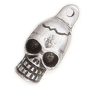 Picture of Aluminum Skull Pendant 25mm<br />2 Pendants