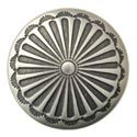 Picture of Nickel Silver Sunburst Concho w/ Loop 12mm
