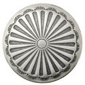 Picture of Nickel Silver Sunburst Concho w/ Loop 17mm