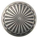 Picture of Nickel Silver Sunburst Concho w/ Screw 17mm