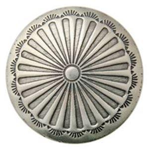 Picture of Nickel Silver Sunburst Concho w/ Screw 21mm