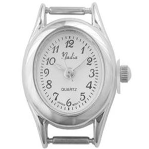 Picture of Oval White Mini Face Watch 26x18mm, Pin Size 8mm