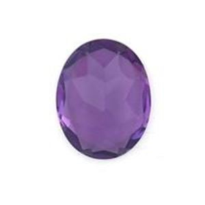 Picture of Amethyst Lab Oval  Faceted Cabochon 8x10mm