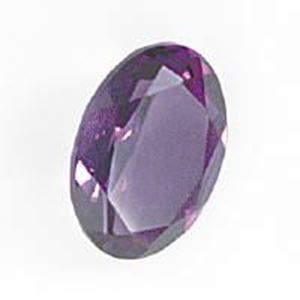 Picture of Amethyst Lab Grown, Oval Faceted Cabochon, 10x14mm
