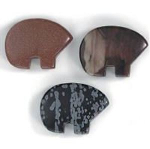 Picture of 22x30mm Assorted Drilled Bear Large