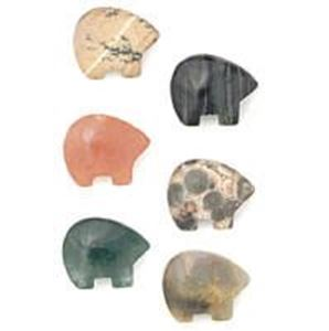 Picture of Fetish Gemstone, Assorted Drilled Bear, 9x11mm