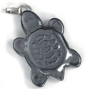 Picture of Hematine Turtle Flat with Bail