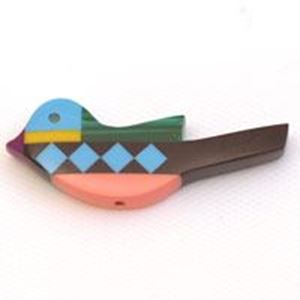 Picture of Fetish Inlay, Imitation Block Drilled Bird, 9x23mm