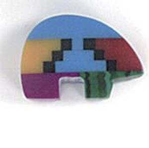 Picture of Imitation Block Inlay Drilled  Bear Bead 8x12mm