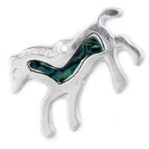 Picture of Abalone Green Horse Pendant