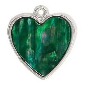 Picture of Abalone Pendant Heart Green