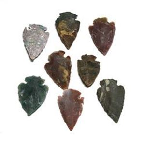 Picture of Stone Arrowhead Assorted Stones 8 peice 1-1.5""