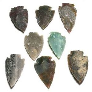 "Picture of Fetish Gemstone, Assorted Arrowhead, 8 pieces, 1-1/2"" - 2"""