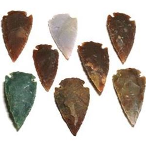 "Picture of Fetish Gemstone, Assorted Arrowhead, 8 piece, 2"" - 2-1/2"""