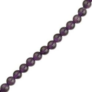 "Picture of Amethyst Round Bead Grade ""A"" 6mm 16"" Strand"