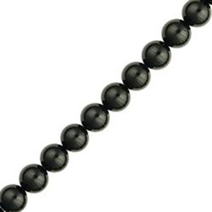 "Picture of Black Onyx Round Beads 8mm 16"" Strand"