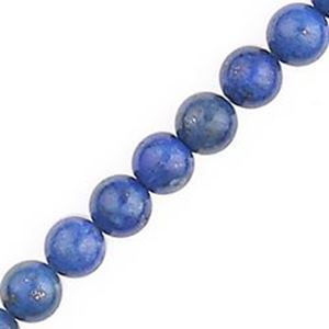 """Picture of Lapis Round Bead """"A"""" 6mm 16"""" Strand"""