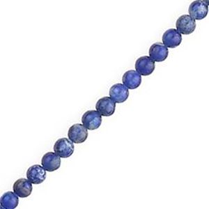 "Picture of Lapis Round Bead ""AB"" 3mm 16"" Strand"
