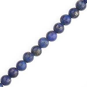 """Picture of Lapis Round Bead """"AB"""" 4mm 16"""" Strand"""