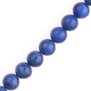 """Picture of Lapis Round Bead """"AB"""" 6mm 16"""" Strand"""
