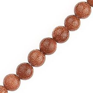 "Picture of Goldstone Round Bead 6mm 16"" Strand"