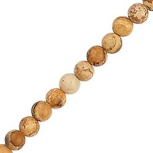 "Picture of Jasper Picture Round Bead 4mm 16"" Strand"