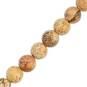 "Picture of Jasper Picture Round Bead 6mm 16"" Strand"